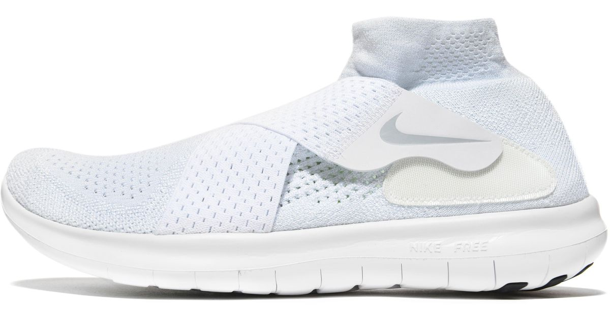 buy online dda1a 9b1cc Lyst - Nike Free Run Motion Flyknit 2 in White for Men