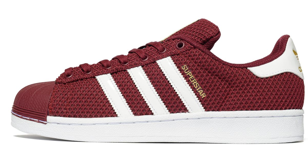 Adidas Originals Superstar Knit In Red For Men Lyst