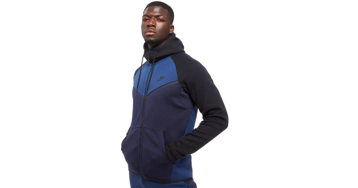 Lyst - Nike Tech Fleece Windrunner Hoodie in Blue for Men 43d1f2e7cbcf