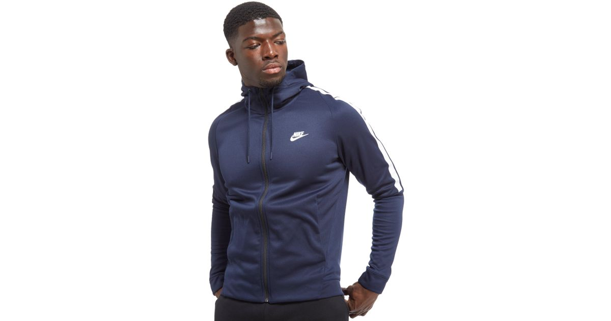 Nike Tribute Full Zip Poly Hoodie in Blue for Men - Lyst 5eaeaa7e9