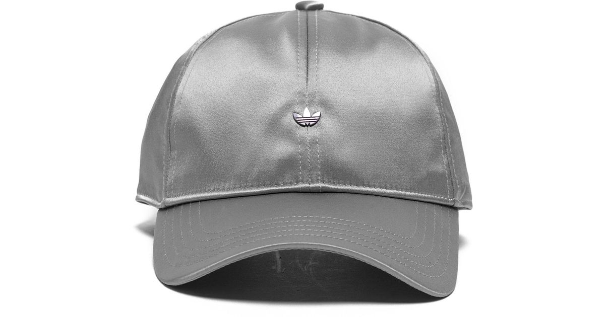 adidas Originals Mini Metal Trefoil Cap in Gray for Men - Lyst f360b6fdb94