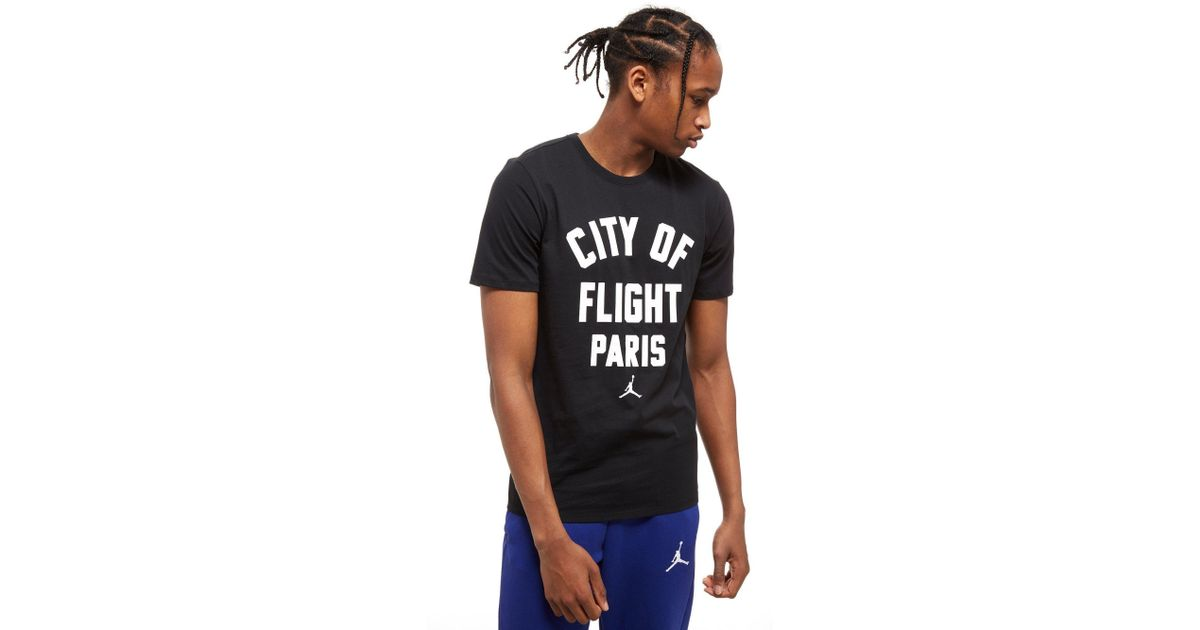 4e55ffe48f1c Lyst - Nike City Of Flight Paris T-shirt in Black for Men