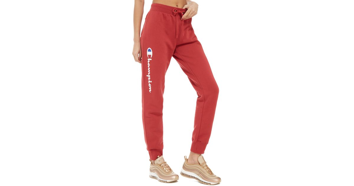 fd3cf63ab7f0 Lyst - Champion Fleece Pants in Red