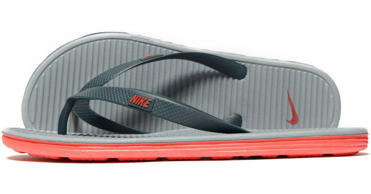 f10a27a5cb8edd Lyst - Nike Solarsoft Ii Flipflops in Gray for Men