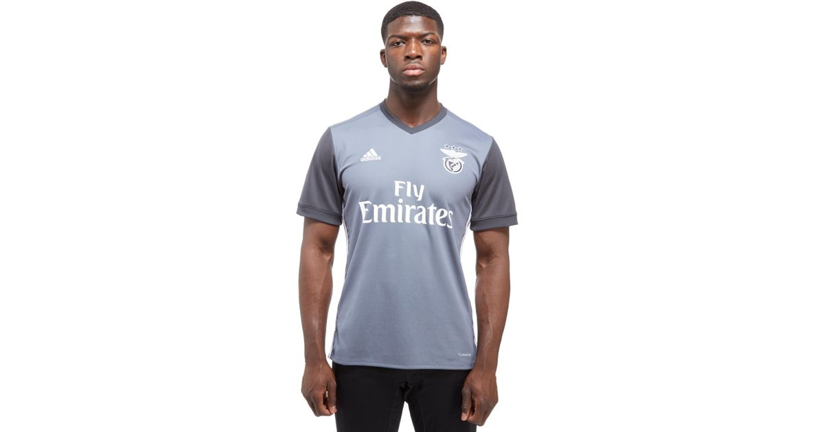 official photos 097b8 ac429 Adidas Gray Benfica 2017/18 Away Shirt for men