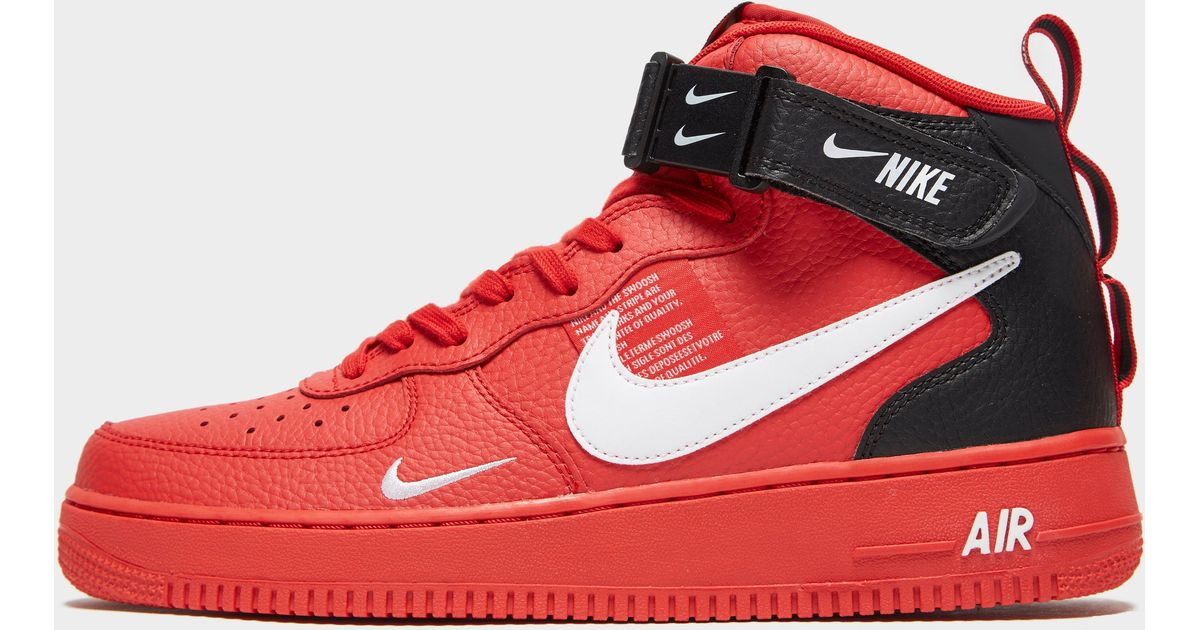 89bce6768546 Nike Air Force 1 07 Mid Lv8 Shoe in Red for Men - Lyst