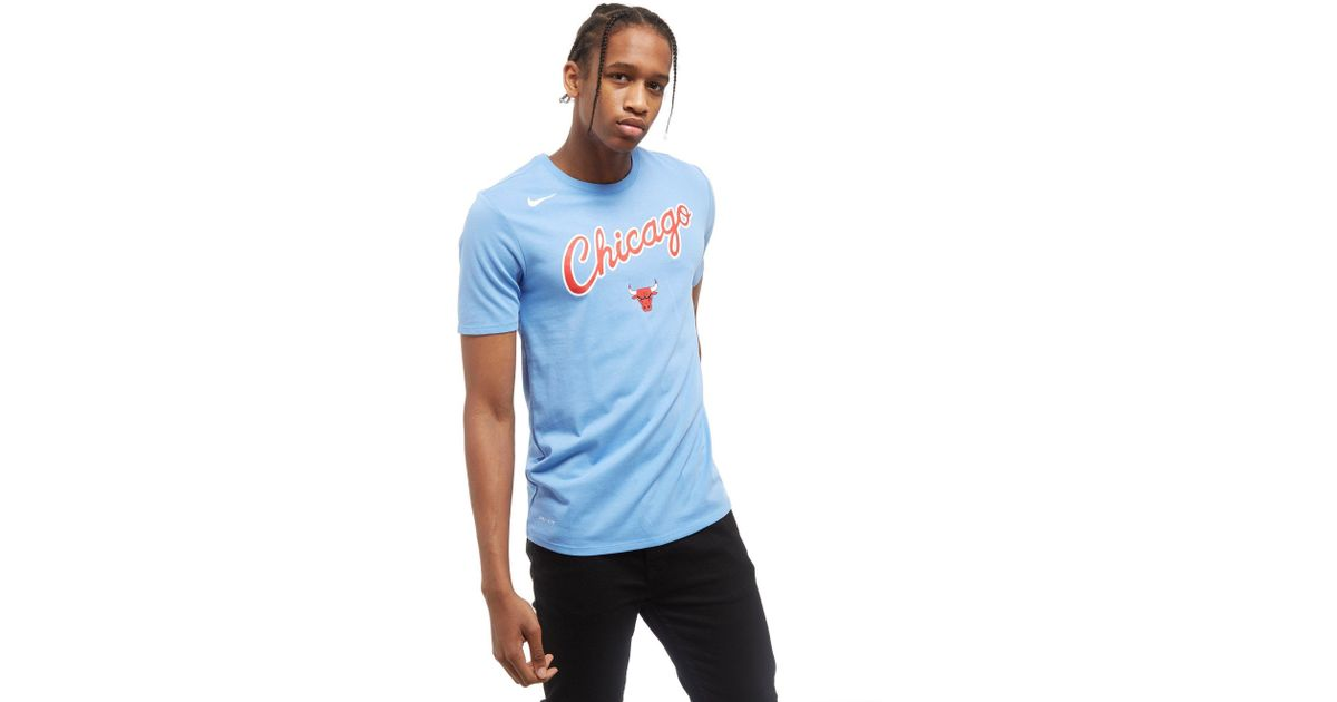 3cb616f99ce ... where to buy nike nba chicago bulls city t shirt in blue for men lyst  225dd