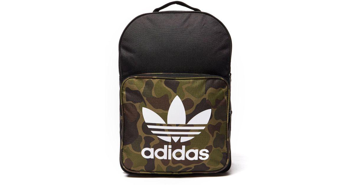 060493526f Adidas Originals Classic Camo Backpack in Black for Men - Lyst