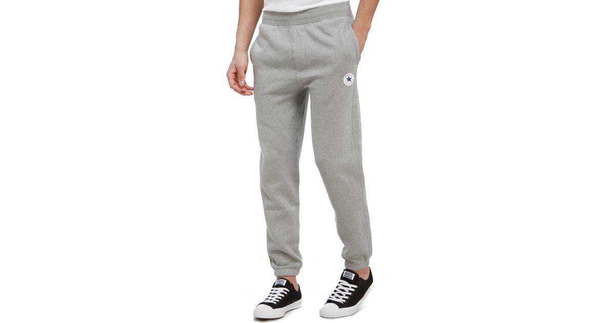 2ce0e6bd8eff Lyst - Converse Chuck Fleece Jogging Pants in Gray for Men