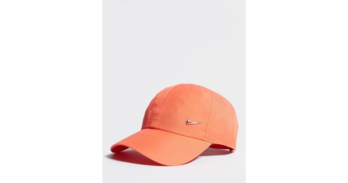 b397ecdf5c85 ... top quality nike side swoosh cap in orange for men lyst 52065 be3c0