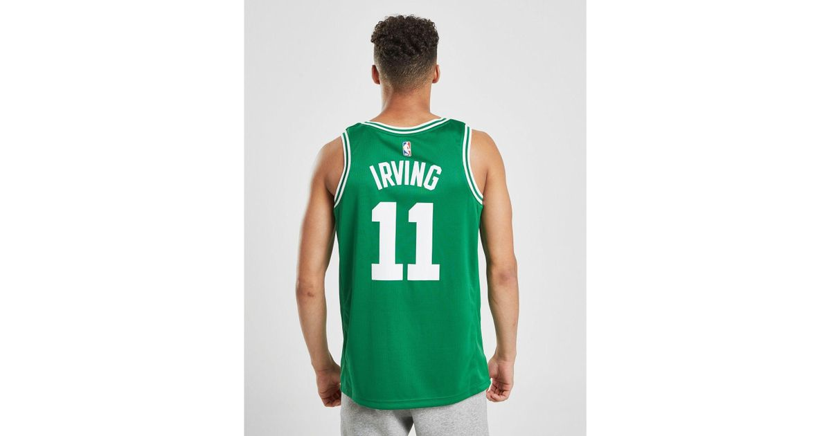 sports shoes 7ad78 afa38 Nike - Green Nba Boston Celtics Swingman Irving Jersey for Men - Lyst