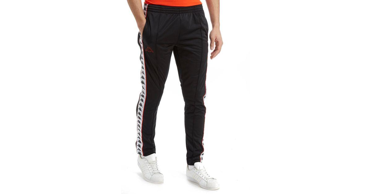 5ed23b91 Kappa Astoria Snap Pants in Black for Men - Lyst