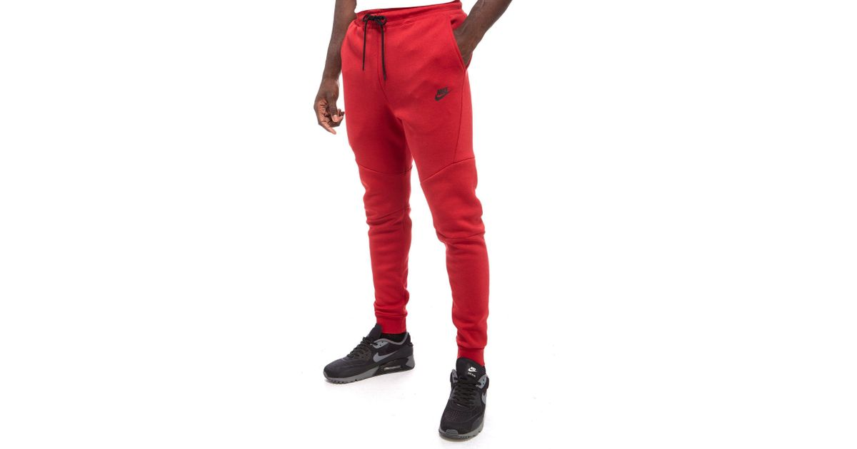 e8cd2a0fa82b Lyst - Nike Tech Fleece Pants in Red for Men