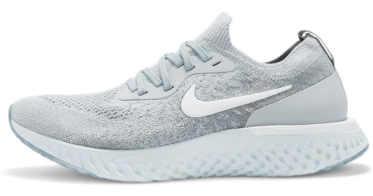 121867c53b5a Lyst - Nike Epic React Flyknit Men s Running Shoe in Gray for Men
