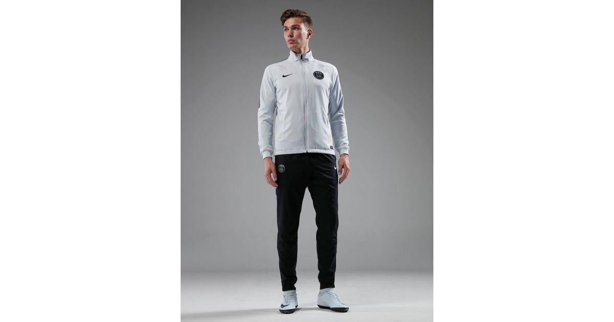 new high super popular buy cheap Nike Synthetic Paris Saint Germain Woven Suit in White/Black ...