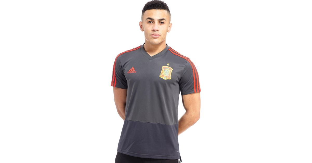 Lyst - adidas Spain 2018 Training Shirt in Gray for Men 58ab879bb