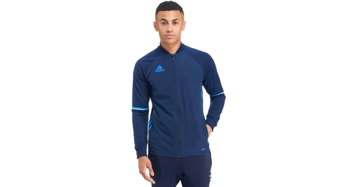 a47130a7a7517 adidas Originals Condivo 16 Poly Training Jacket in Blue for Men - Lyst