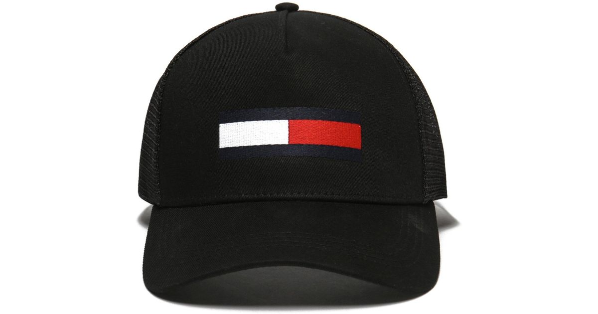 Lyst - Tommy Hilfiger Trucker Cap in Black for Men 2a489bcdd24