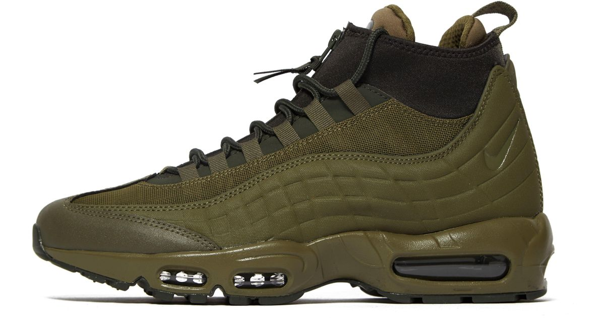 the best attitude 598d3 2778c Nike Air Max 95 Sneakerboot in Green for Men - Lyst