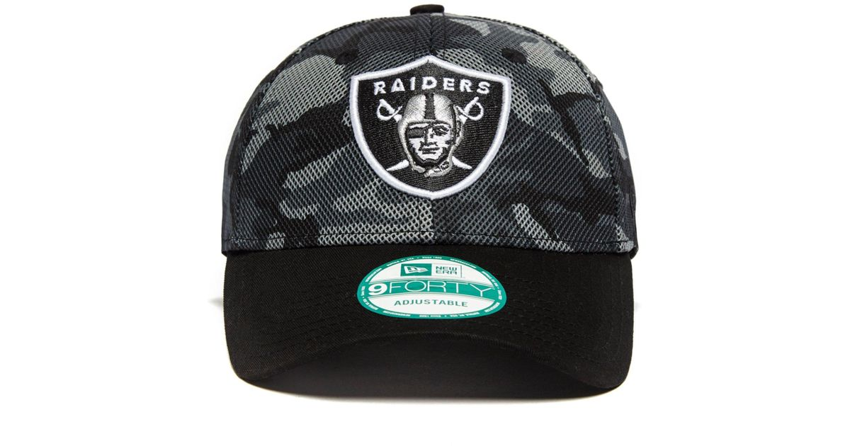 a41a4f5105a Lyst - KTZ 9forty Nfl Oakland Raiders Cap in Black for Men