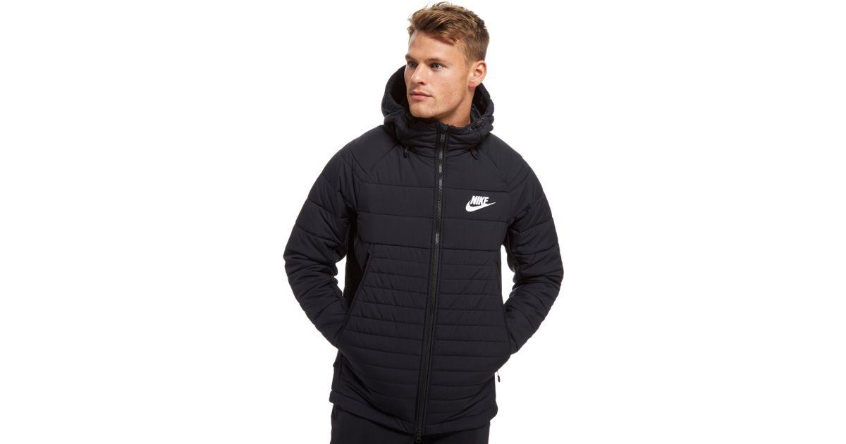 4e46f98eaf Lyst - Nike Sportswear Hooded Down Jacket in Black for Men