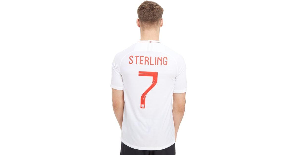 Nike England 2018 Sterling  7 Home Shirt in White for Men - Lyst 69567421e4