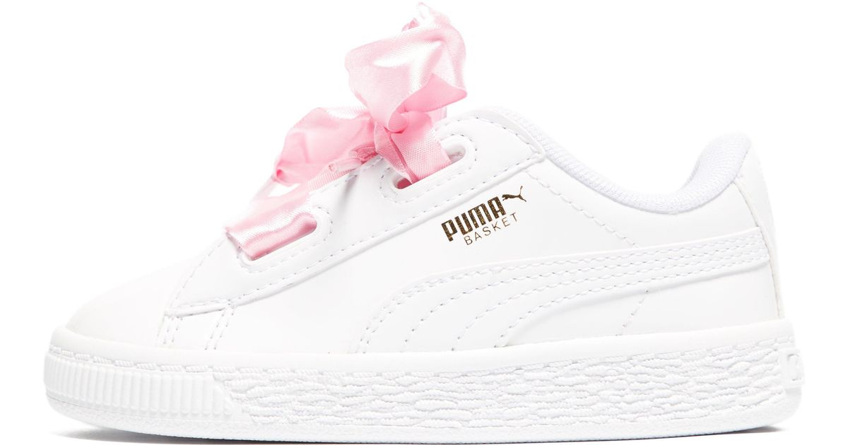 puma basket heart infant suede