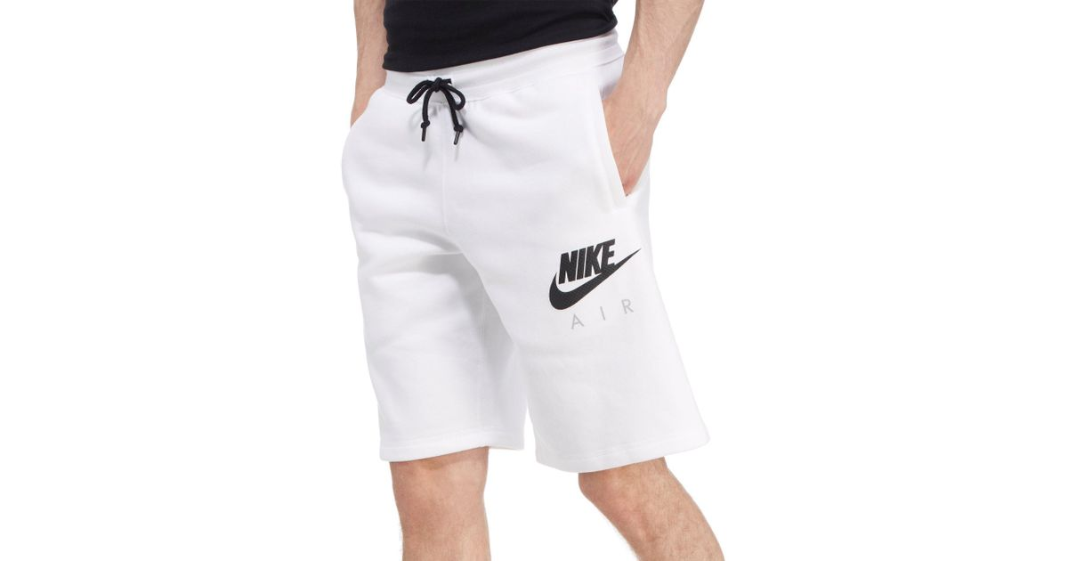 c5728af504bc Lyst - Nike Air Fleece Shorts in White for Men