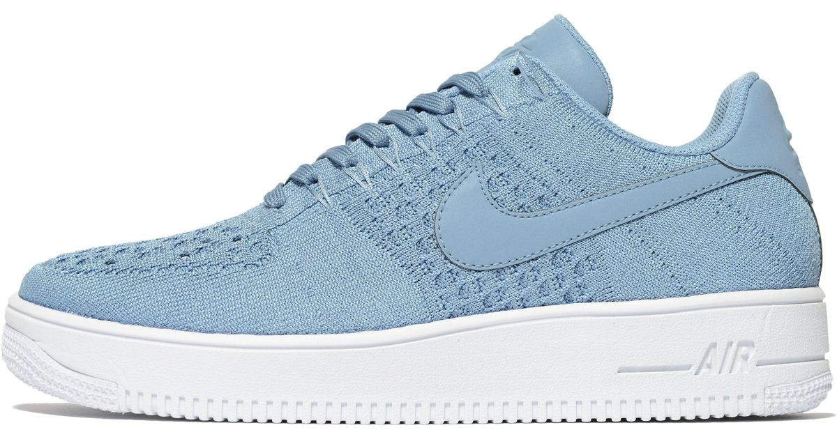 4ada9f1ad7a2d Lyst - Nike Air Force 1 Flyknit in Blue