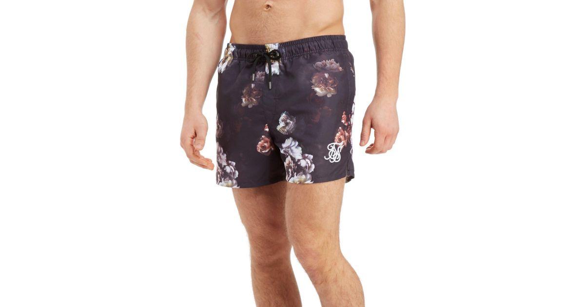 383bffdc7c Lyst - SIKSILK Swim Shorts in Black for Men