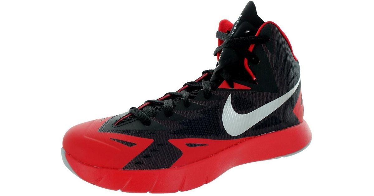 9677e176c94a Lyst - Nike Lunar Hyperquickness Black wolf Grey universtiy Red Basketball  Shoe 10.5 Us in Red for Men