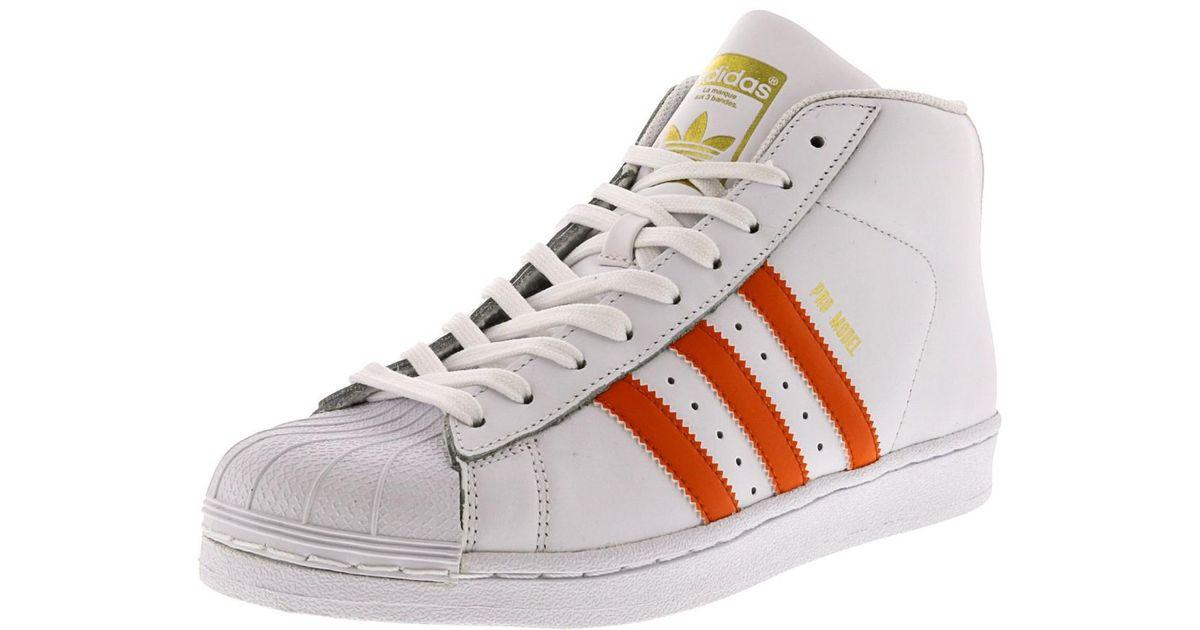 lyst adidas (modello calzature bianco / energia arancione oro metallico