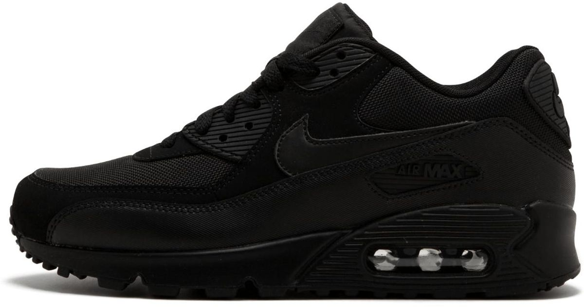 sports shoes c5ee9 7df8f Nike 537384-090 Air Max 90 Essential Running Shoes in Black - Lyst