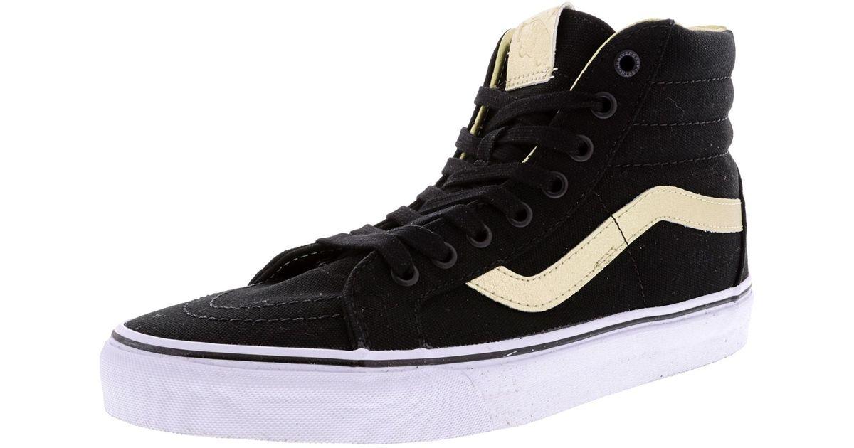 Lyst - Vans Sk8-hi Reissue 50th High-top Canvas Skateboarding Shoe - 9.5m  8m in Black 6415afdfc9