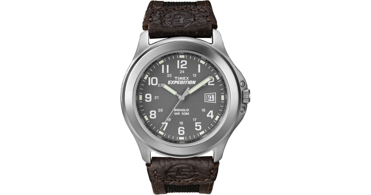 Timex Metallic Expedition Gray Dial Silver Tone Case Metal Field Watch T40091 For Men Lyst