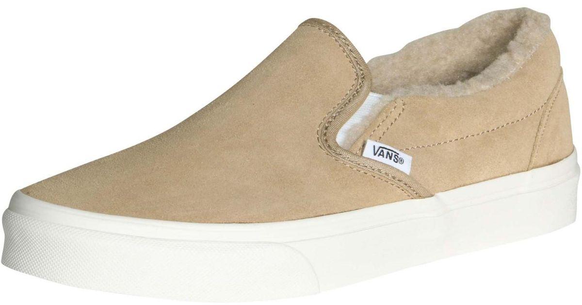 Lyst - Vans Unisex Classic Slip-on Suede fleece Skate Shoes-khaki-10- 8.5  in Natural for Men ba9d505e7