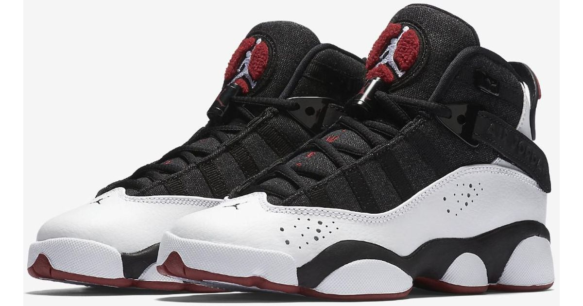 sale retailer 461e9 b94e8 Lyst - Nike Boys Jordan 6 Rings Bg Black white-red 323419-012 Size 6y in  Black for Men