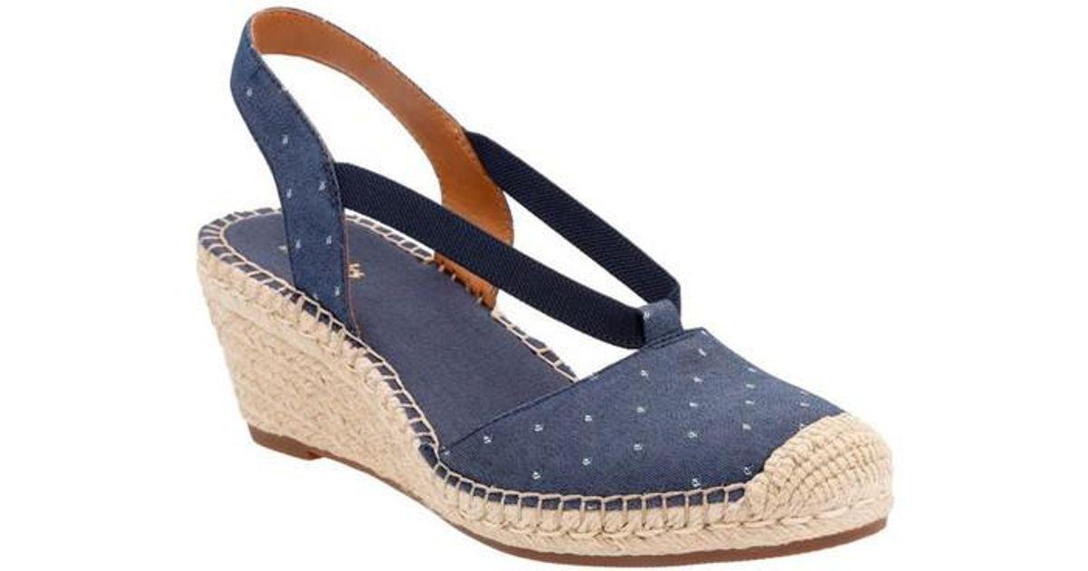 511425c0412 Lyst - Clarks Artisan Petrina Kaelie Espadrille Wedge Sandals in Blue