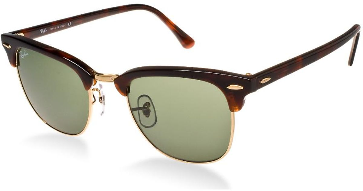 Lyst - Ray-Ban 0rb3016 W0366 51 Mock Tortoise  Arista crystal Green  Clubmaster Icons Sunglasses in Green for Men 7d606802ed