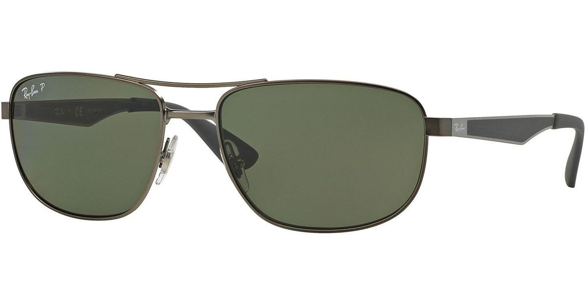 3a86b49005c57 Lyst - Ray-Ban 0rb3528 029 9a 61 Matte Gunmetal dark Green Polar Active  Lifestyle Sunglasses in Green for Men