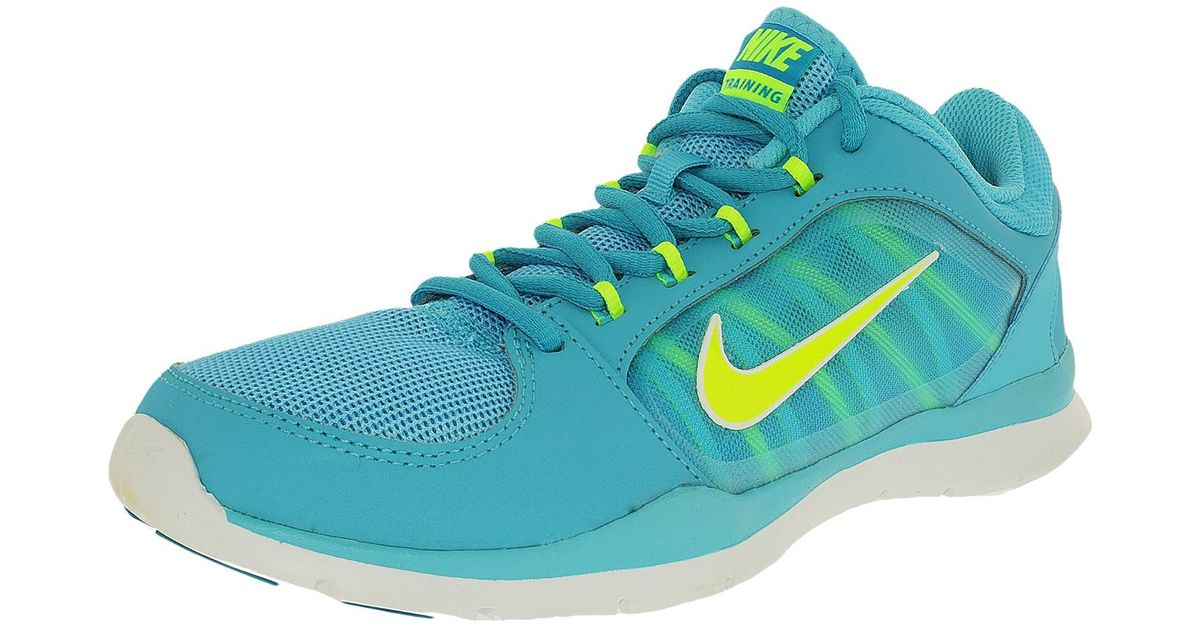 b7509b84fcf Lyst - Nike Flex Trainer 4 Clearwater volt Blue Lagoon white Ankle-high  Running Shoe in Blue