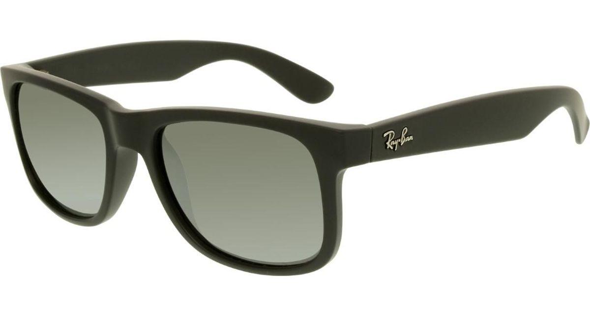 687953eac20 Lyst - Ray-Ban Justin Rb4165-622 6g-51 Black Wayfarer Sunglasses in Black  for Men