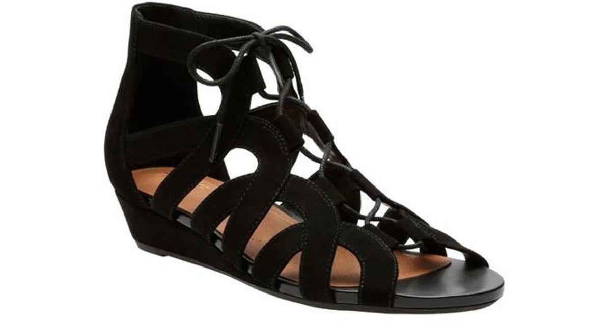 05a9afd006e Clarks - Black Parram Lux Gladiator Sandal - Lyst