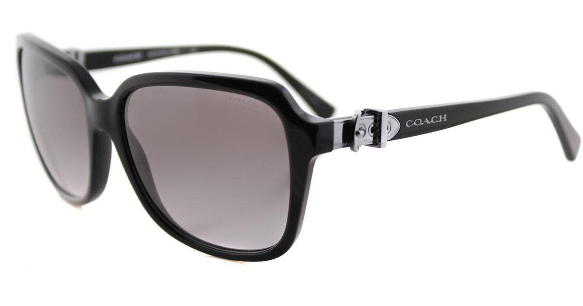 93bcf45d61 ... reduced lyst coach hc8179 hc 8179 500211 square sunglasses 58mm in  black 12077 d52e5 ...