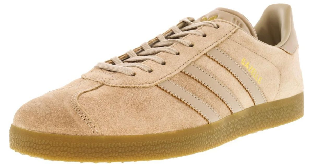 f5fa078bb236 Lyst - adidas Gazelle Clay Brown   Gum Ankle-high Leather Fashion Sneaker -  8m in Brown for Men