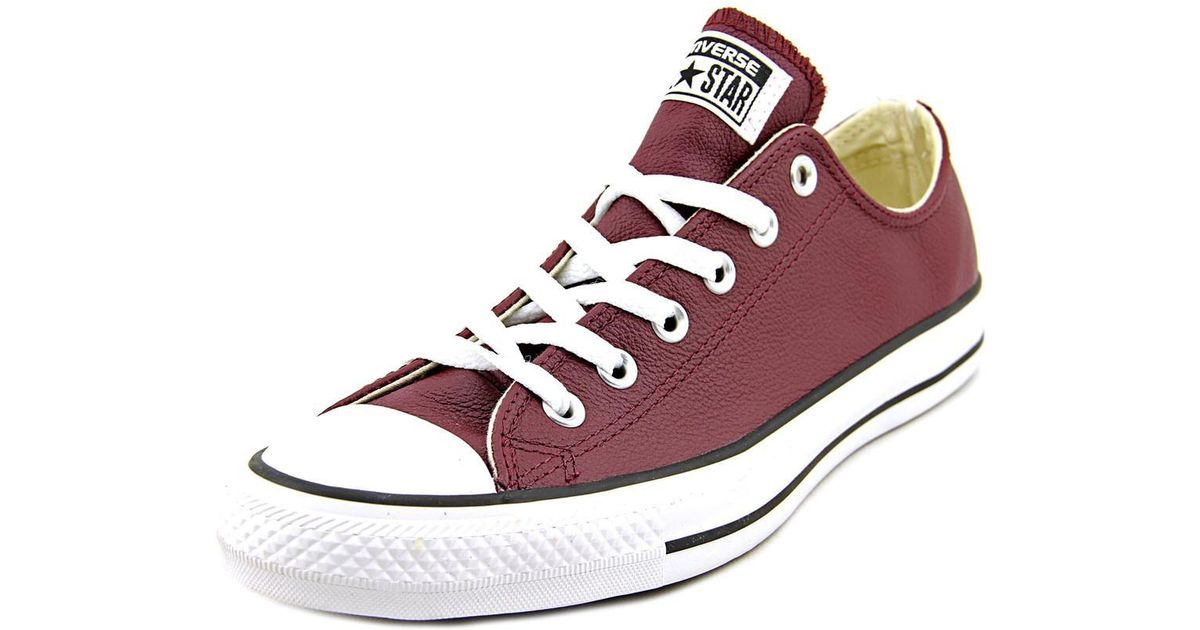 baf48c97c239 Lyst - Converse Chuck Taylor All Star Leather Ox Men Us 9 Burgundy Sneakers  for Men