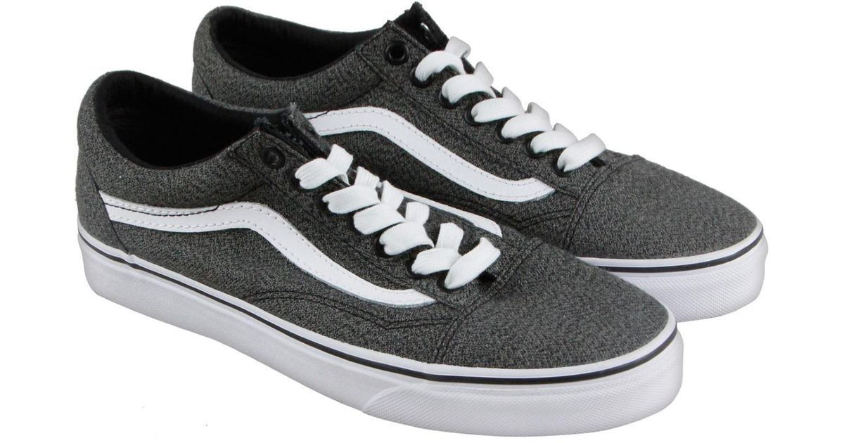 Lyst - Vans Old Skool Suiting Black True White Lace Up Sneakers in Gray for Men
