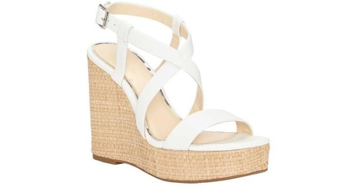 2880cdf45416 Lyst - Jessica Simpson Salona Platform Wedge Sandal in White
