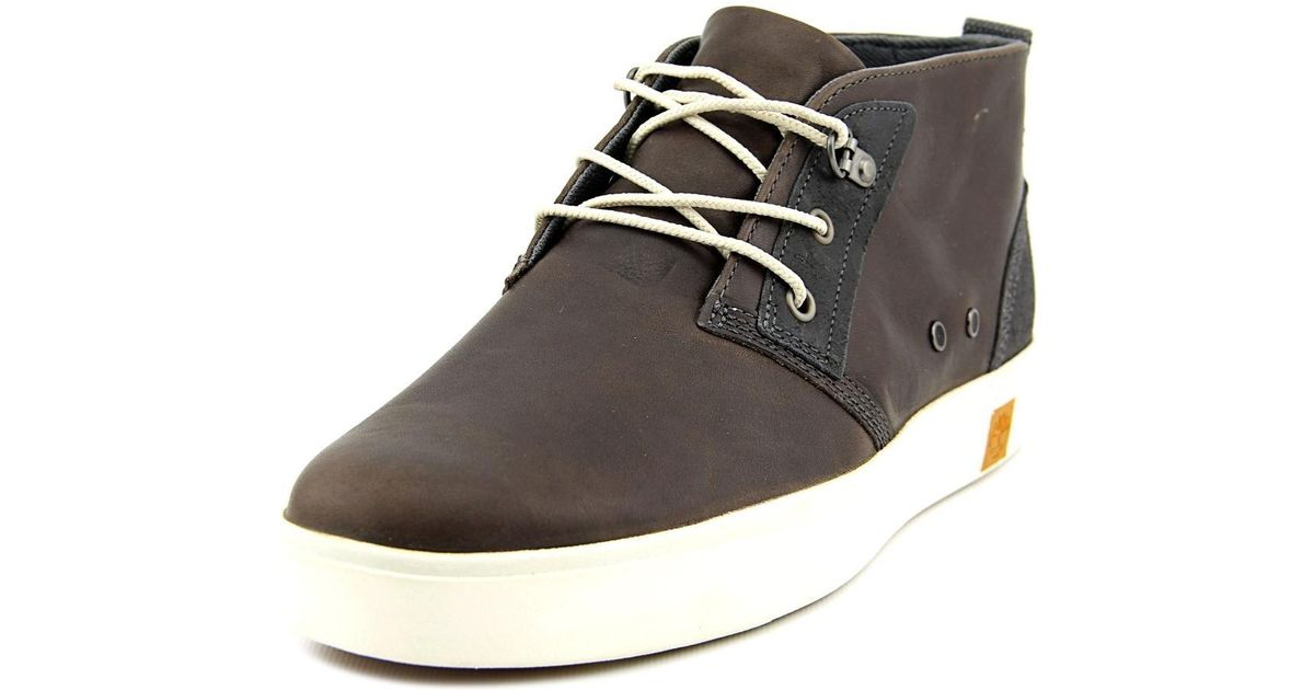 Lyst - Timberland Amherst Men Round Toe Leather Chukka Boot in Brown for Men