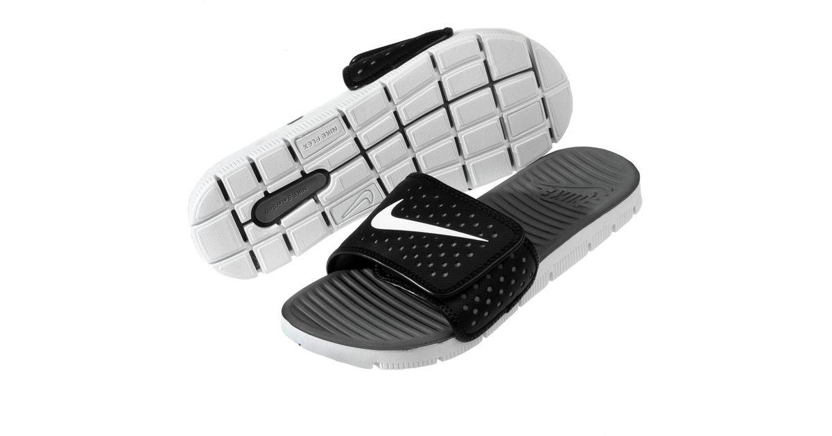 finest selection ad3e4 cd0d9 Nike Flex Motion Slide Black white cool Grey Sandal 8 Men Us in Gray for Men  - Lyst